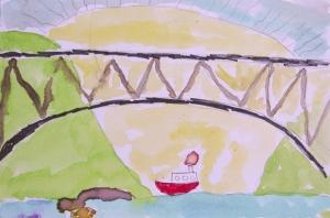 bridge and boat