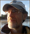 Andy Fisk on river Aug 2009