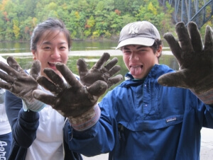 DA two students gloves