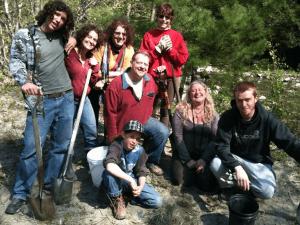 Tree planting crew in Vermont