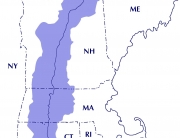 Watershed map w/ state boundaries