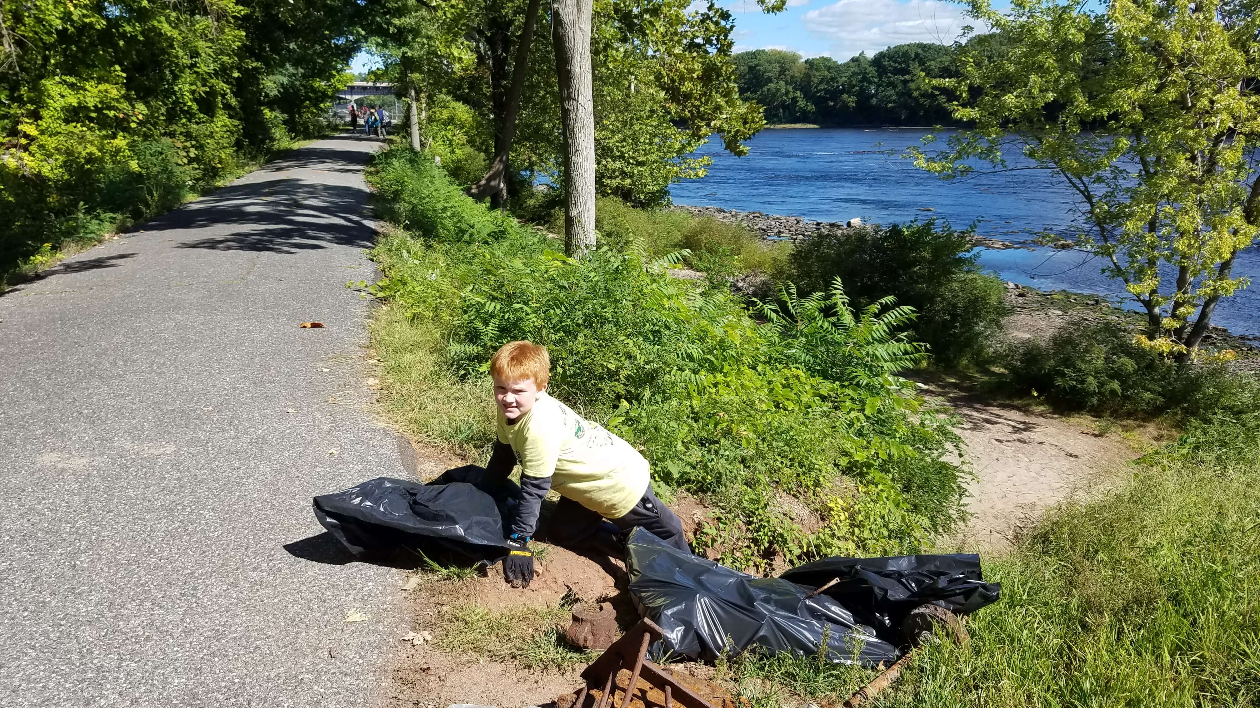 river bank cleanup