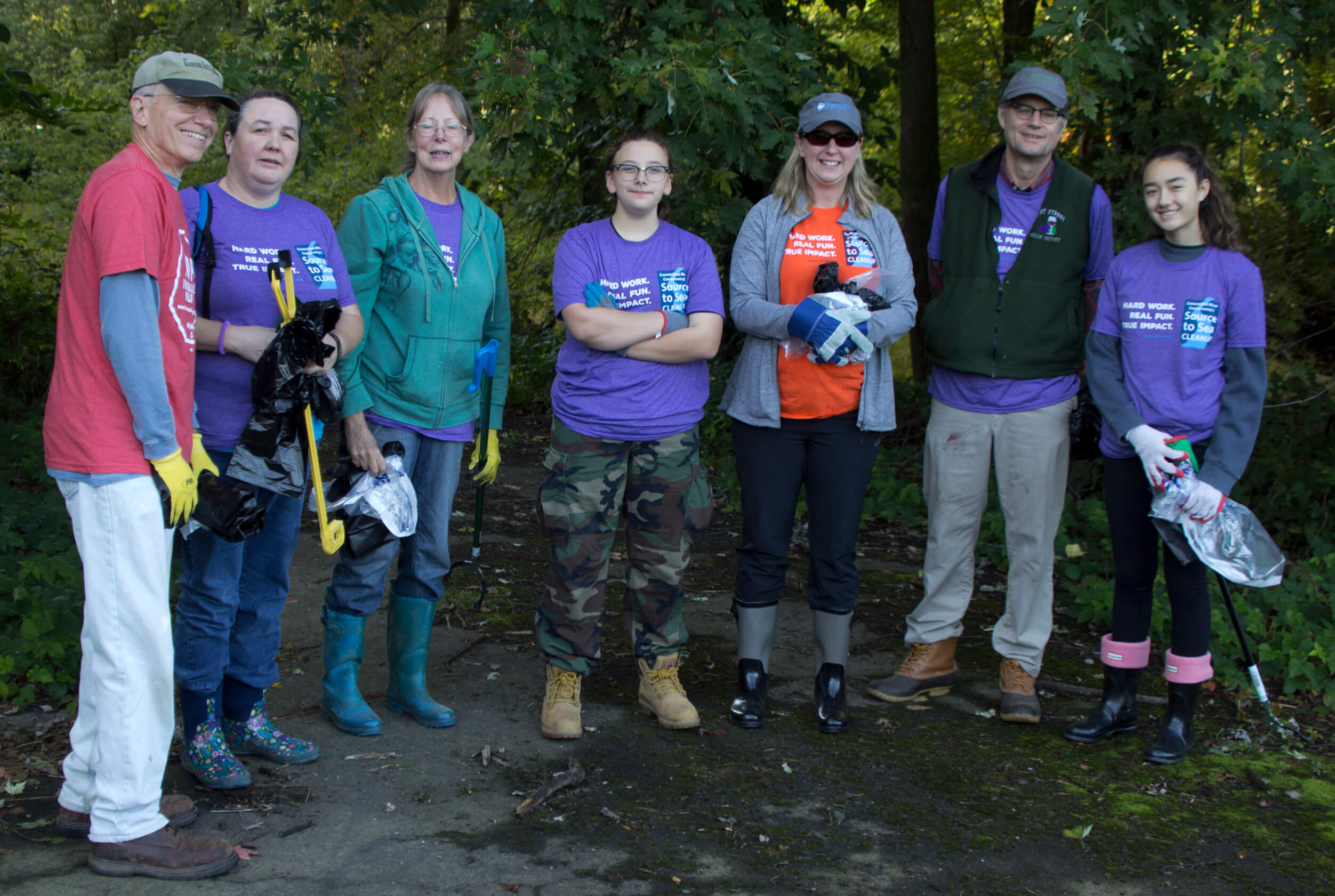 team forms up to clean the dark side of the wethersfield cove