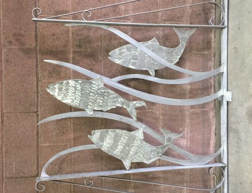 Local Artist Creates Shad-themed Sculpture to Adorn Historic Franklin County Courthouse