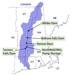 Class of 2018 - 5 hydro dam relicensing map