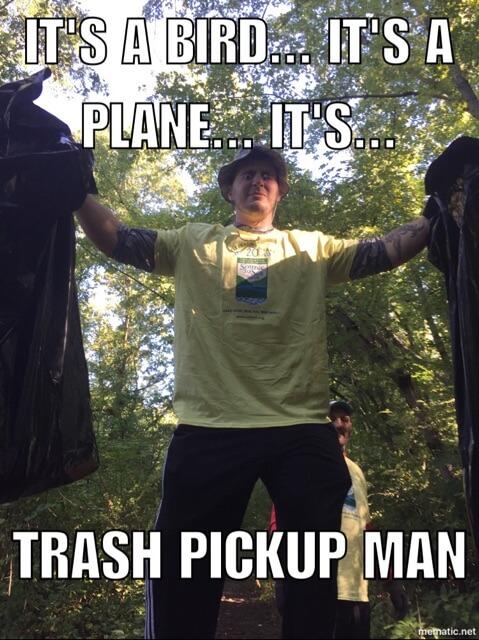 trash pickup man