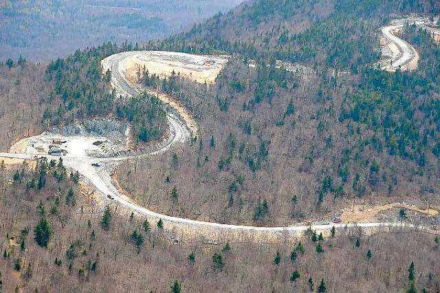 Lowell, VT, roadway and pad construction - wind-watch