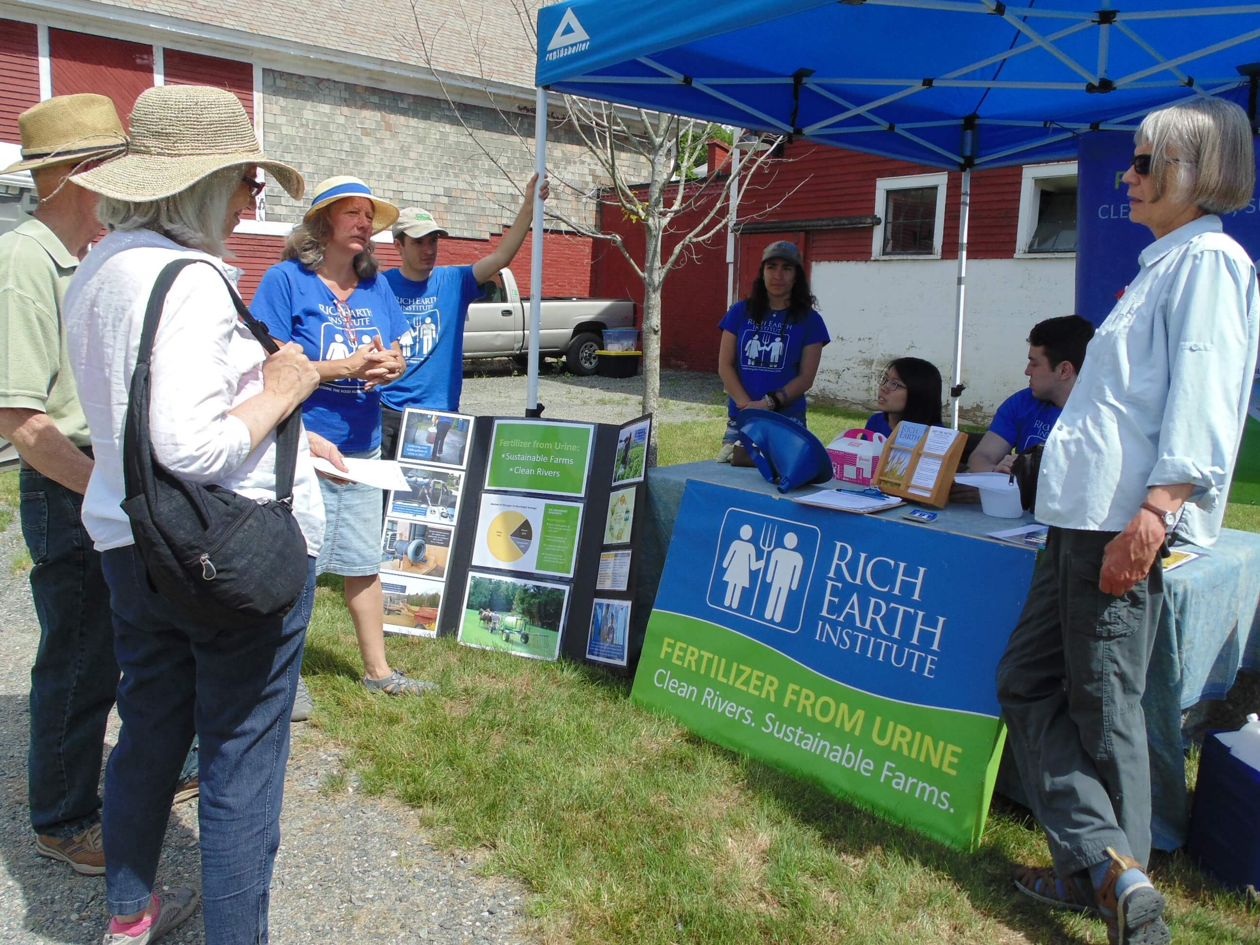 Rich Earth Institute table at CRC's River Celebration