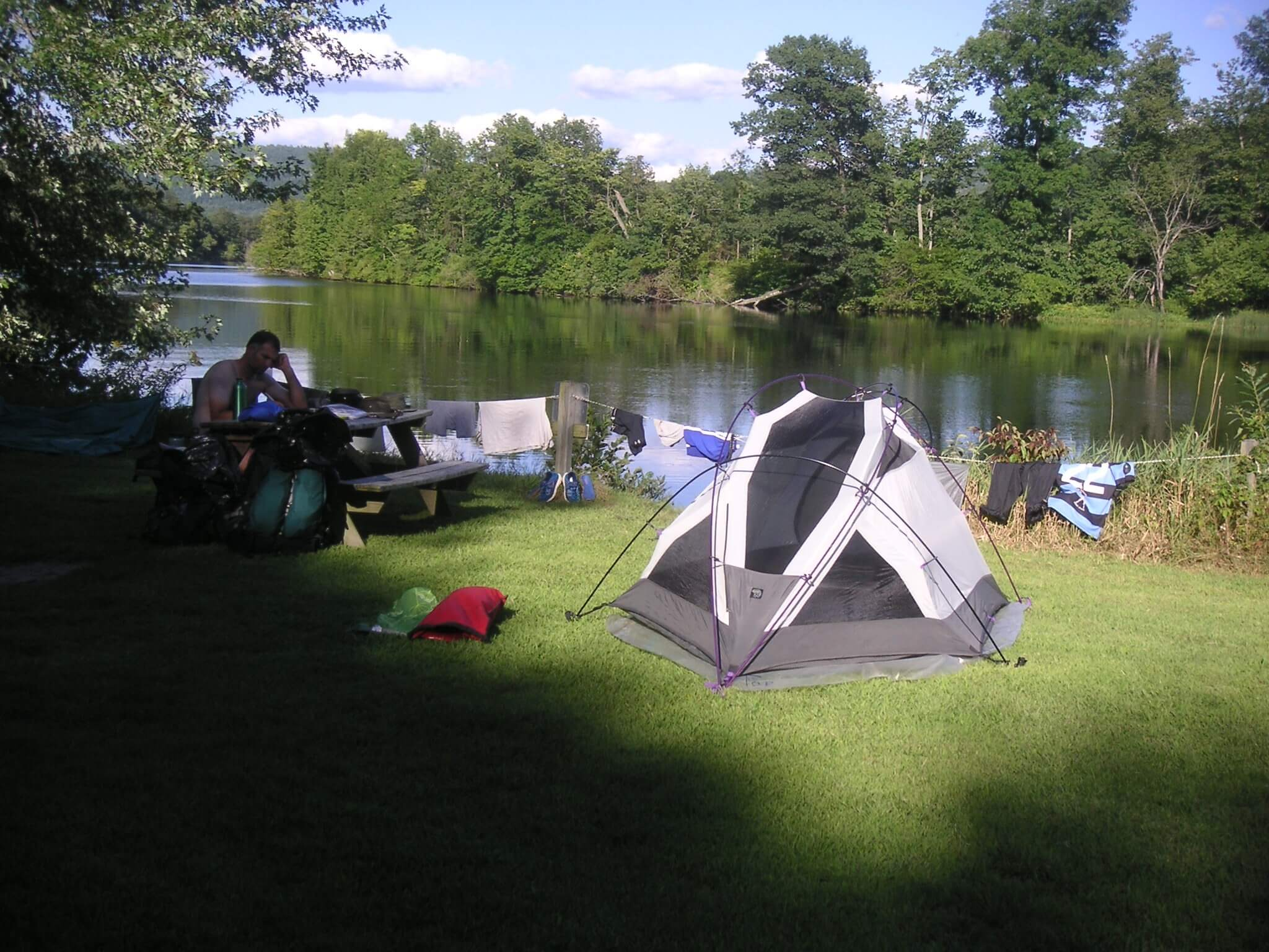 Roaring Brook Campsite by Ted Murray