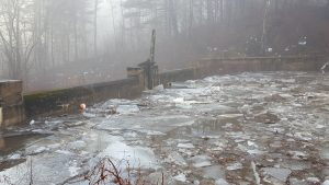 Pine Mill dam on Clark Brook, Haverhill, NH