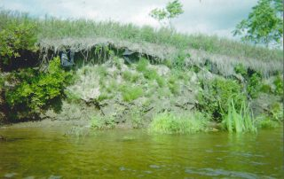 erosion on Stocking Farm in Fairlee, VT circa 1980s