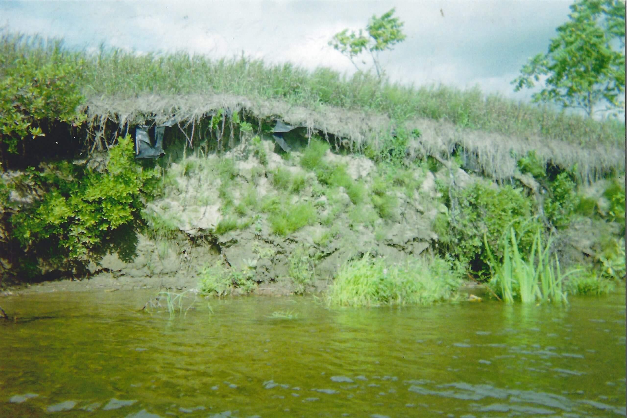 erosion on Stocking Farm in Fairlee, VT circa 1980s