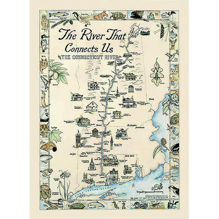The River That Connects Us Connecticut River Conservancy - Us-map-poster