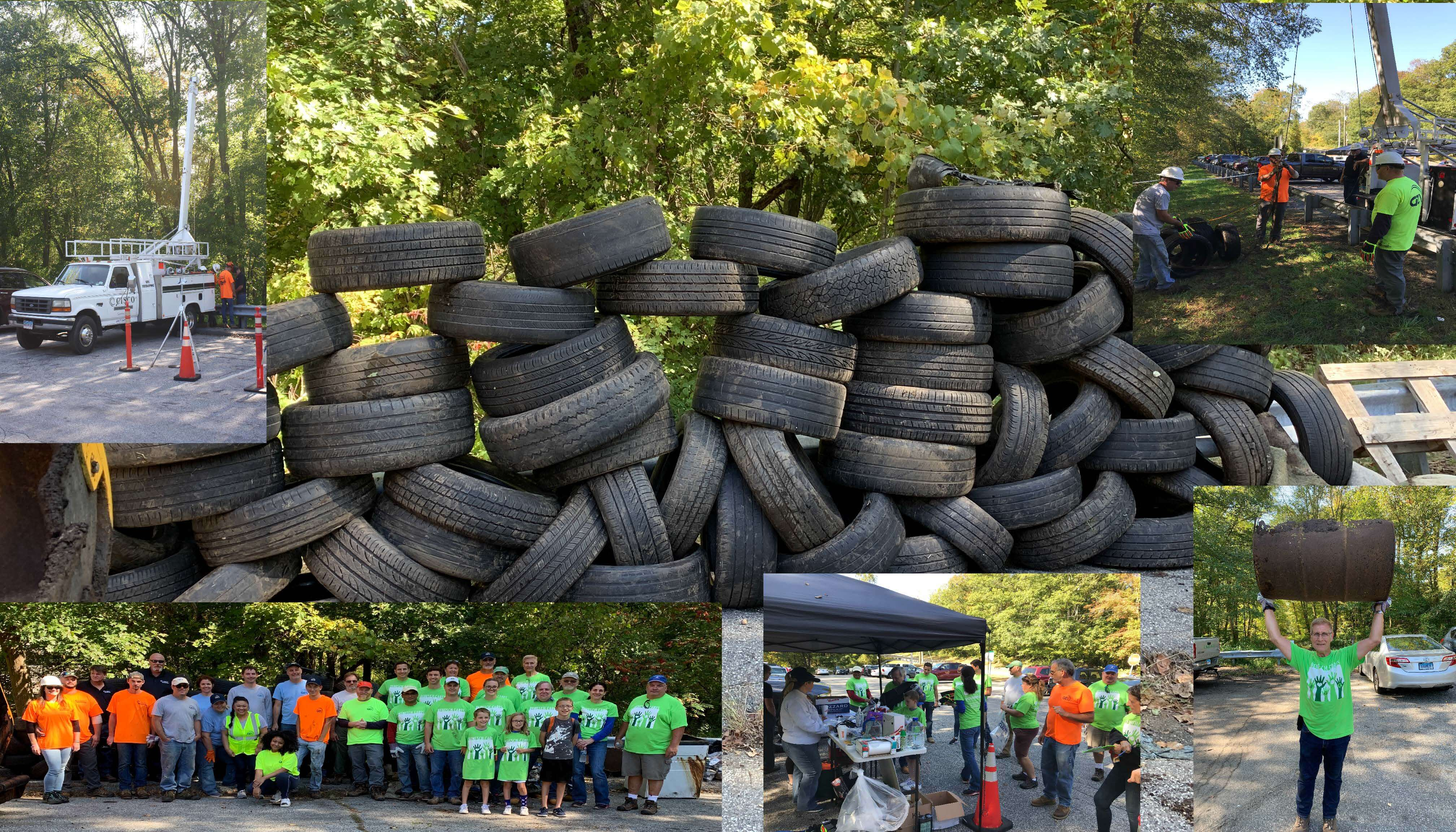 wall of tires
